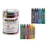Pincello S3607109 Ceras de Colores Jumbo, Materiales Varios, Multicolor, 36 Pcs
