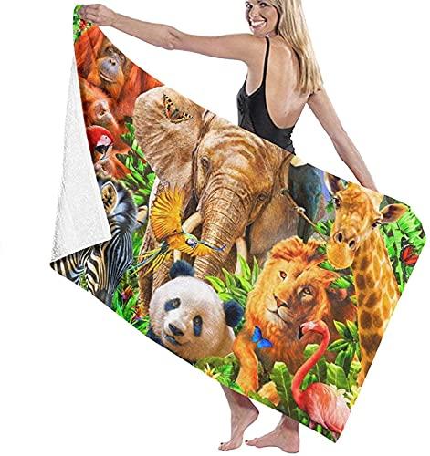 Toallas de baño Animales Salvajes Playa Vacaciones Super Absorbente Toalla Gruesa Manta 31 '* 51' para niños Correr Bañarse