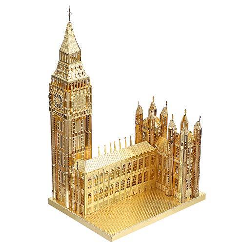 Piececool 3D Metal Model Kits-Big Ben DIY 3D Metal Puzzle for Adults-London Landmarks Architecture...