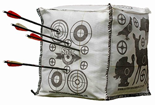 Shot Stoppa Archery Target Cube Fill Yourself Crossbow Target Will Stop Arrows & Crossbow Bolts at 10ft 2 Finger Removal