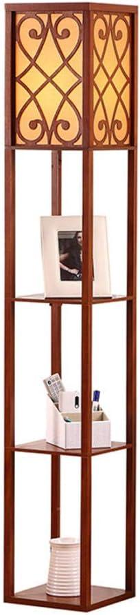 l/ámpara de lectura moderna para dormitorio -01 Blanco L/ámpara de pie con estantes decoraci/ón del hogar sin bombilla luz de pie de estante de madera sala de estar