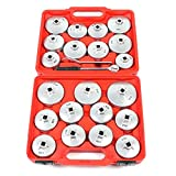 Chiavi a Bussola per Filtro dell'olio, 23 Pezzi Chiave di Filtro Olio Presa per Chiave per Tappo Filtro Olio Professionale Set di strumenti per la rimozione