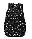 Fanci Lovely Dog Paw Prints Primary School Backpack Junior Schoolbag Bookbag for Teens Girls