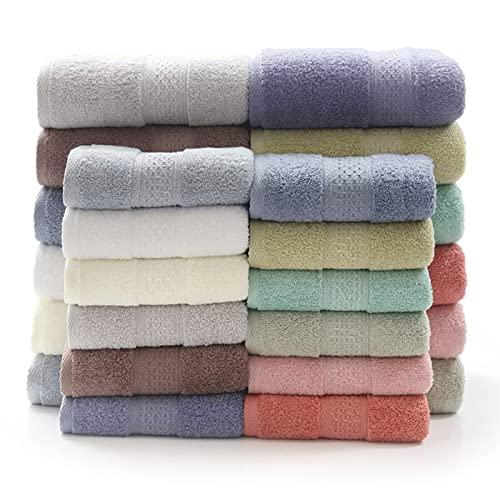 6PCS Towel Set Hand Face Bath Towels Solid Color Cotton for Adults Strong Water Absorption Simple Plain Bathroom Shower Towels (Color : Color 4, Size : 6pcs Towel Set)