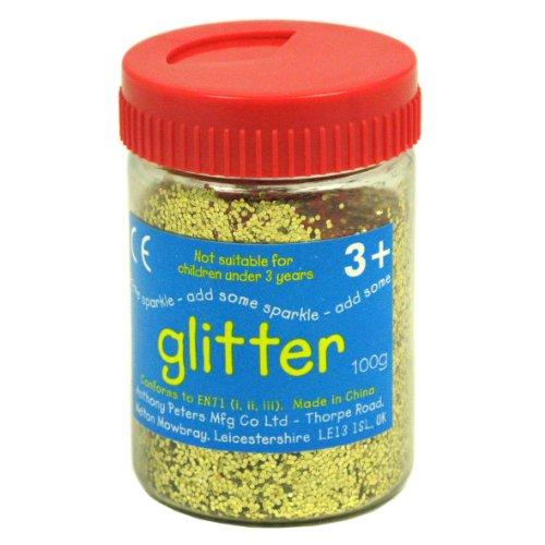 Gold Art and Craft Glitter - 100g Tub