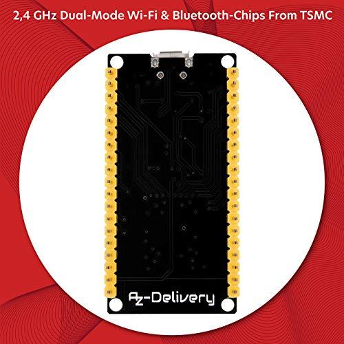 AZDelivery 3 x ESP32 NodeMCU Module WLAN WiFi Dev Kit C Development Board mit CP2102 (Nachfolgermodell zum ESP8266) und inklusive E-Book!