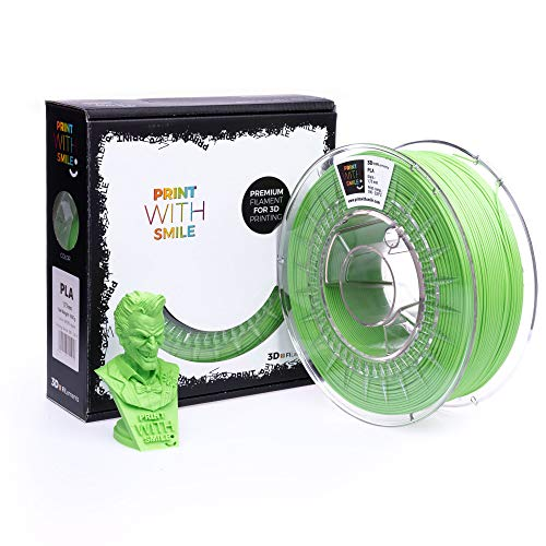 Print With Smile - 3D Filament, 1,75 mm - 1 kg PLA (Green Apple)