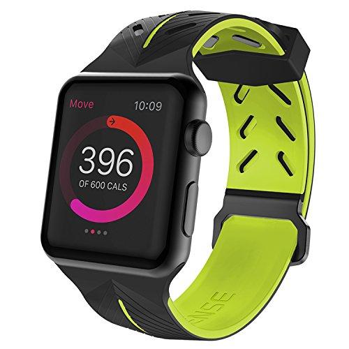 Pulseira Apple Watch Action Band Sport Fashion com Pelicula 3D Tela Inteira Premium, X-Doria, 3X482911A, Verde, 42 mm