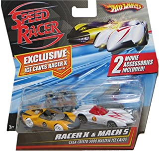 Hot Wheels Speed Racer Movie Moments - Speed Racer Racer X vs. Mach 5 Casa Cristo 5000 Maltese Ice Caves