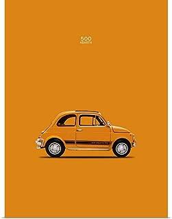 GREATBIGCANVAS Poster Print Fiat 500 Abarth 1969 by Mark Rogan 36