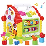 GILOBABY 多機能 知育玩具 赤ちゃん おもちゃ 楽器おもちゃ 音と光 早期開発 指先訓練 数学を学ぶ 聴覚発達 色認知 動物認知 図形認知 積み木 おもちゃ 男の子 おもちゃ 女の子 1歳 誕生日 プレゼント 出産祝い 入園祝い 幼稚園 教具