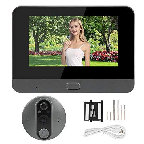 Sistema de intercomunicación con timbre de videoportero inalámbrico de 4.3in, pantalla LCD de intercomunicador Monitor a color de 720P y kits de timbre de video con cámara de visión nocturna por infra