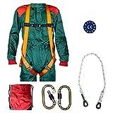 Kit de suspension anti-chute en air, levage suspendu, harnais textile anti-chute, corde de sécurité, 2 mousquetons, sac de voyage, kit CE harnais anti-chute 1 point dorsal