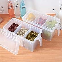 VEMA Kitchen Storage Container 2 sets, Food Container, Food Box, Fridge box, Fridge Organizer, Storage Box, Fresh Fruit Bo...