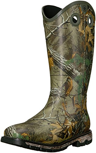 Ariat Men's Conquest Rubber Buckaroo Insulated Hunting Boot, Real Tree Extra, 13 D US