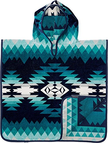 Pendleton Jacquard Children's Hooded Towel, One Size, Papago Park Turquoise