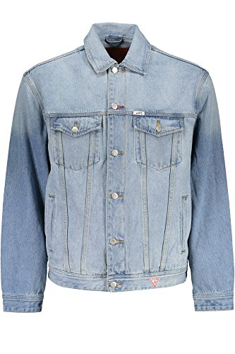 Guess Jeans M7FN48D2IB0 Giacca Sportiva Uomo Azzurro WRST XL