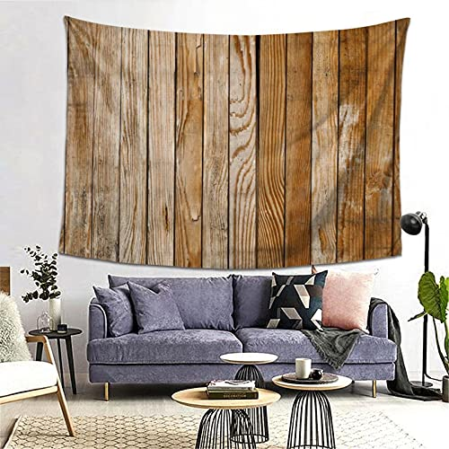 PATINISA Tapestry Wall Hanging,Old Barn Wood Brown,Tapestry Home Decoration for Bedroom Living Room 60x51in