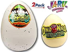 JA-RU Megic Grow Eggs (2 Pack) 1 Mega XXL and 1 Original Plus one Bouncy Ball Item #1745-1747p