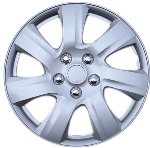 """Drive Accessories KT-1021-15S/L, Toyota Camry, 15"""" Silver Replica Wheel Cover, (Set of 4)"""