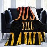 venty de Dusk Till Dawn Logo Ultra-Soft Micro Fleece Throw Blanket para Bed Car Camp Couch Fur Mantas de Felpa para Hombres Mujeres Niños