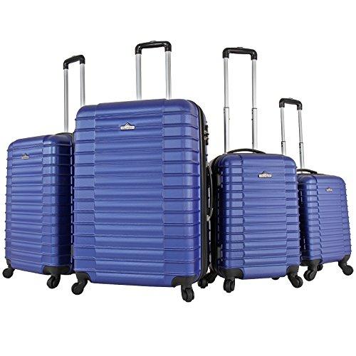 Vojagor Trolley Valigia Set valigie rigide Bagagli da 4 Pezzi Colore a Scelta