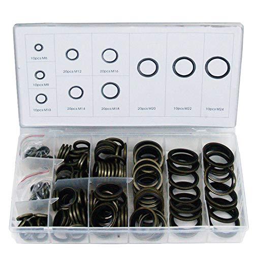 Craft-Equip 150 tlg. Bonded Seal Dichtring Satz Ölablass Schrauben Dichtung Set