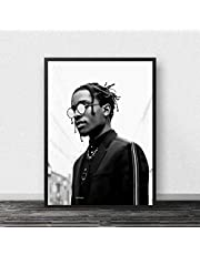 Canvastryck Asap Rocky Print Poster Rapper Poster Music Star Hip Hop Rapper Print Wall Pictures For Living Room Home Decor Ramlös 50X70Cm -A322