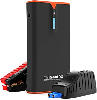 GOOLOO 1500A Peak SuperSafe Car Jump Starter (Up to 8.0L Gas or 6.0L Diesel Engine) with USB Quick Charge and 18W Type-C P...