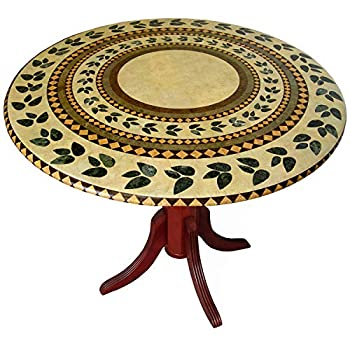 Fitted Vinyl Tablecloth,tablecover Table Cover Atlantis Inlaid for a Magical Transformation of 36  to 48  Tables.