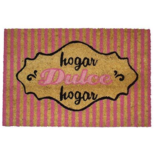 koko doormats Hogar Dulce - Rosa Felpudo, Coco, 40 x 60 cm