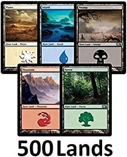 Magic: The Gathering 500 Basic Lands - 100 of Each Land Type (Plains, Islands, Swamps, Mountains, Forests)