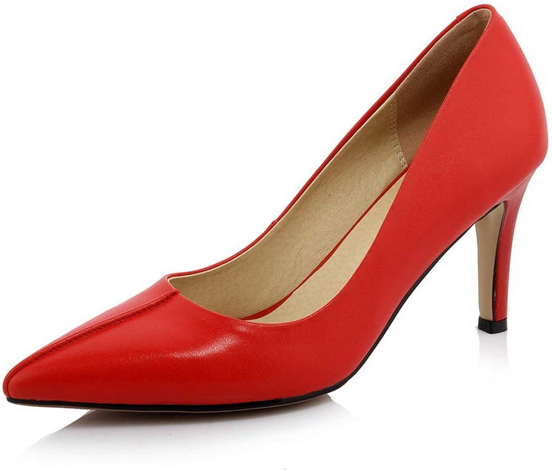 AdeeSu kvinnor Solid Business resa läder Pump skor SDC0661 SDC0661 SDC0661  officiell kvalitet