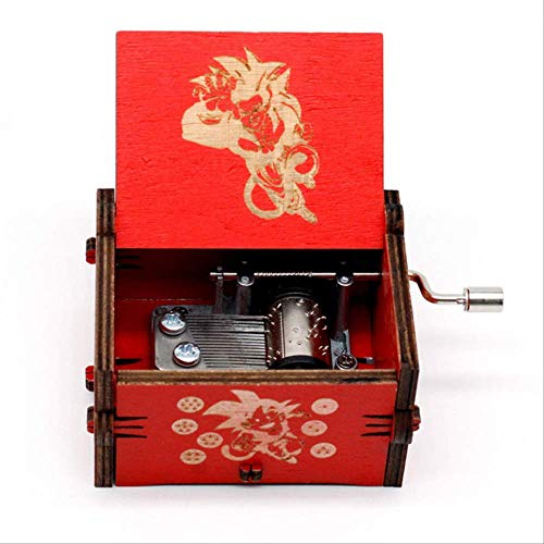 LYXL Caja Musica Niña Wooden Queen Music Box, Juego De Tronos La Bella Y La Bestia Creativo Tallado Antiguo, Regalo De Año Nuevo Dragon Ball GT