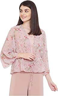 Madame Printed Square Neck Polyester Womens Casual Shrug(S21MAD1S14007P-P)