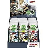 SONAX KlimaPowerCleaner AirAid probiotisch Thekendisplay gemischt (Inhalt: 4 x Ocean-Fresh, 4 x Cherry Kick, 4 x Green Lemon) (100 ml)   Art-Nr.03239410