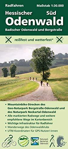 Radfahren, Hessischer Odenwald Süd / Badischer Odenwald und Bergstraße: Maßstab 1:30.000; reißfest und wetterfest; Mountainbike-Strecken der ... Odenwaldklubs; UTM-Koordinaten für GPS-Nutzer