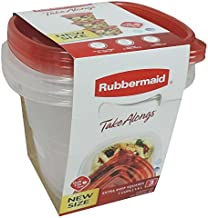 Rubbermaid Take Alongs Square 7-Cup Food Storage Container (Pack of 3)