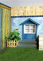 Wz写真の背景ドアの写真の小道具子供ファンシー写真の背景クマビニール5x7ftGQ028