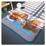 FAGavin Alfombrilla para perro de seda de hielo para coche, almohadilla de...