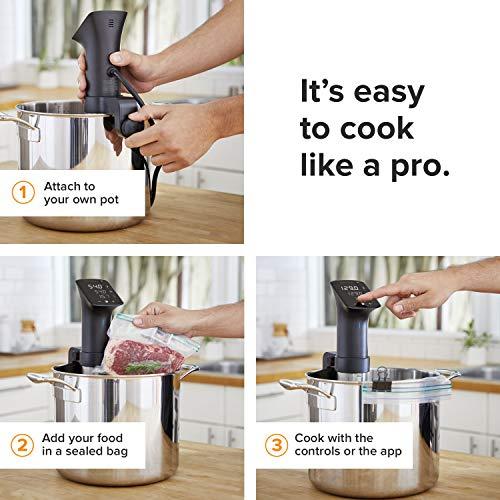 Anova Culinary | Sous Vide Precision Cooker Pro (WiFi) Immersion Circulator | 1600 Watts | All Metal | Anova App…