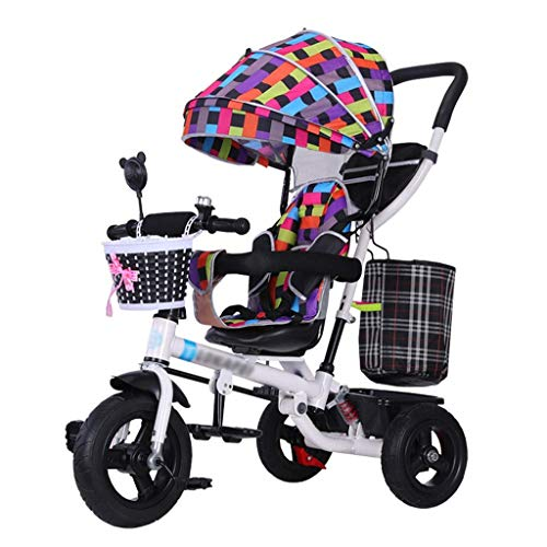 Save %53 Now! GFF Pushchair 4-in-1 Kids' Tricycle Stroller Trike Folding Children Bike with Safety H...