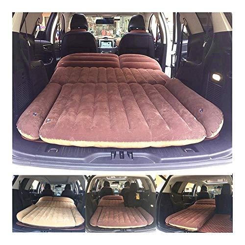 Guoziya Car Air Matelas Camping en Plein Air Coussin Gonflable Voyage Lit Pliant SUV Places Couchées Free Air Lit Pliant Gratuit Double Matairbed (Couleur : Marron)