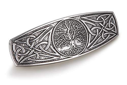 Vintage Celtic Knot Hair Clip Barrettes Hand Crafted Metal Barrette Women Girls (Antique Silver)