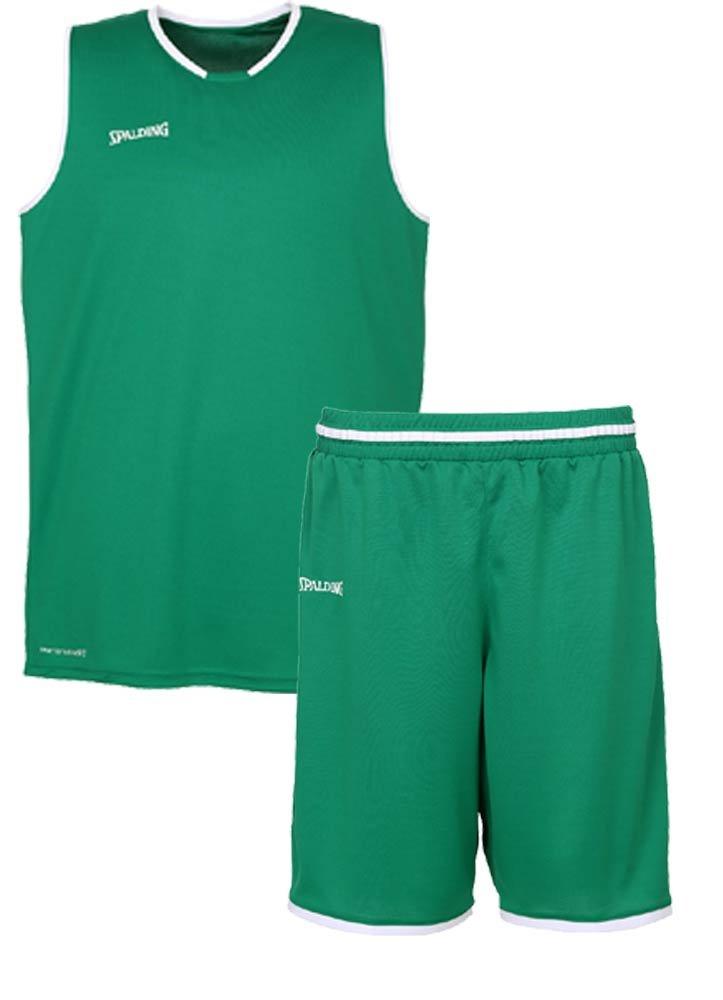 Spalding Baloncesto Combo Set Camiseta Move Camiseta + Pantalones Cortos verschied. Colores, Verde/Blanco: Amazon.es: Deportes y aire libre