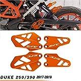 Duke Motocicleta CNC Aluminio Protector de la Cubierta Protectora del Talón Delantero y Trasero para K.T.M Duke 125 250 390 2017-2019-Naranja