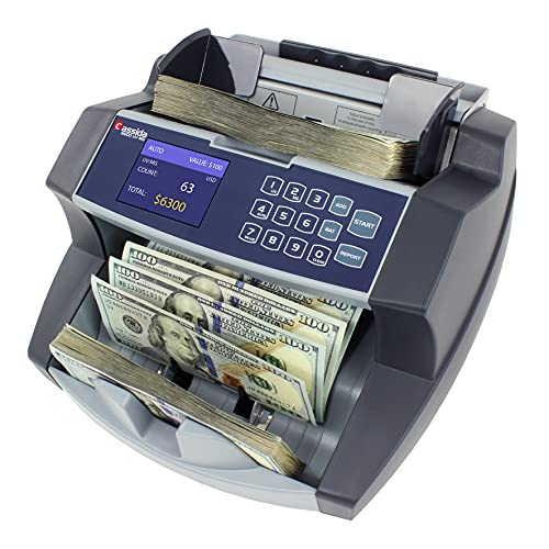 Cassida 6600 UV/MG – USA Business Grade Money Counter with UV/MG/IR Counterfeit Detection – Top Loading Bill Counting Machine w/ ValuCount, Add...