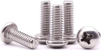 Full Thread AISI 304 Stainless Steel Pan Phillips Drive 18-8 #10-24 X 1//2 75 pcs Machine Screws Aspen Fasteners