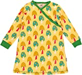 maxomorra Dress Wrapover LS Mushrooms (74)