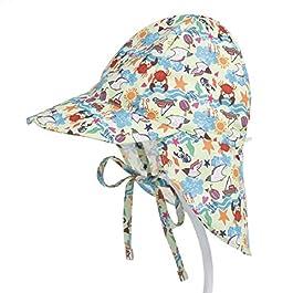 PAADIYA Boomly Bébé Enfant Chapeau de Soleil UV50 + Protection Été Pêche Chapeaux de Plage Pliable Beach Cap avec…